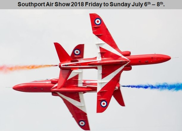 Southport Airshow – 6th to 8th July 2018 Accommodation